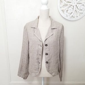 CP shades size S linen blazer